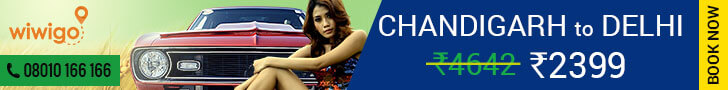 chandigarh to Delhi cab fare wiwigo